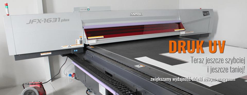 Nowość! Druk UV, czyli bezpośredni, dobrze przylegający druk na dowolnym podłożu.